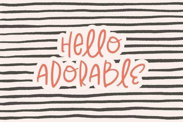 Hello Adorable | Handwritten Cute & Quirky Sans | Webfont