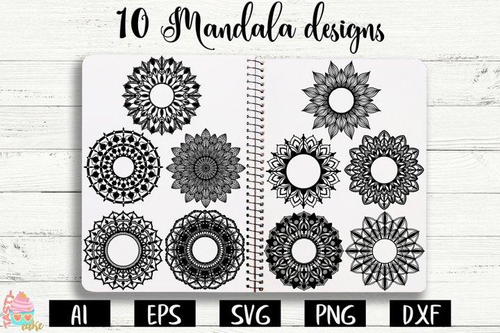 Mandalas Monogram SVG - Mandala Bundle Cut Files