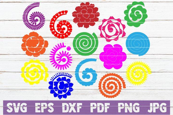 15 Rolled Paper Flowers Svg Cut Files Instant Download 219612 Cut Files Design Bundles