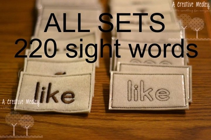 Sight Words Full Set ENTIRE 220 Dolch Word Set- 440 files