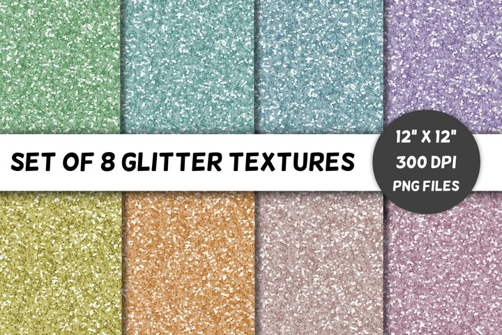 Glitter Backgrounds / Textures / Paper / Pastels / Volume 2