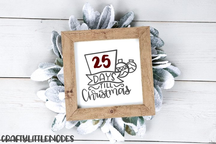 Mini Christmas Bundle - Hand lettered SVG Cut Files example 6