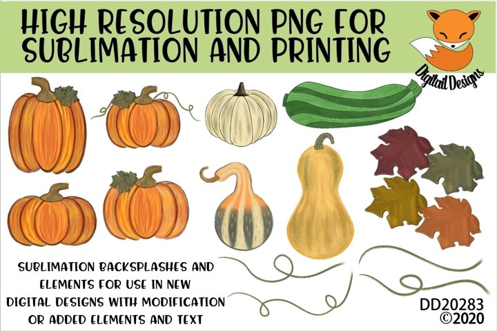Fall Elements Sublimation Scrapbooking Bundle