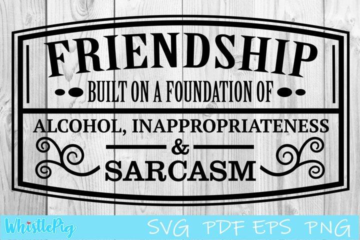 Friendship SVG PDF EPS Built on the Foundations Of SVG