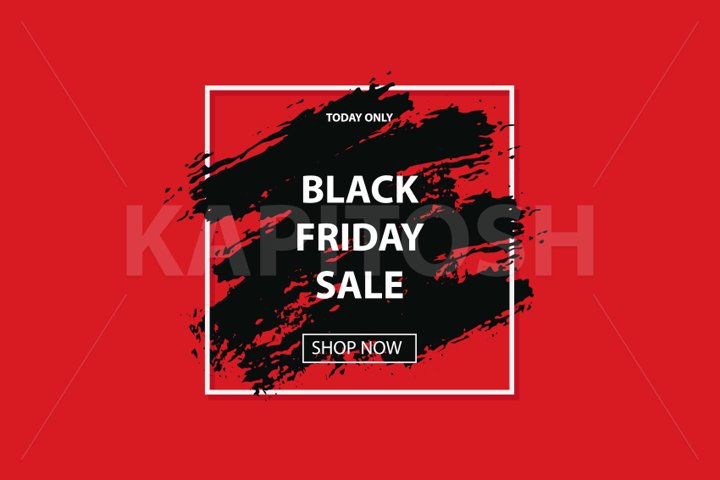 3d comic book red black friday sale banner with grunge brush