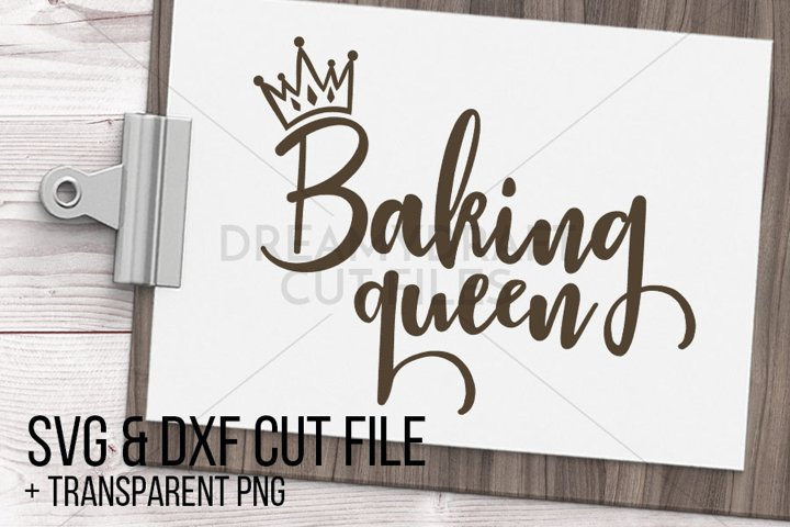 Baking queen SVG & DXF cut file