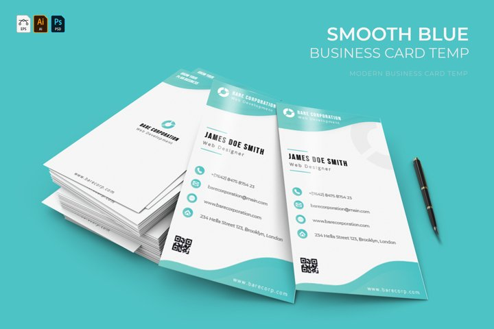 Smooth Blue | Business Card