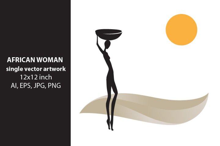 African Woman - single vector artwork