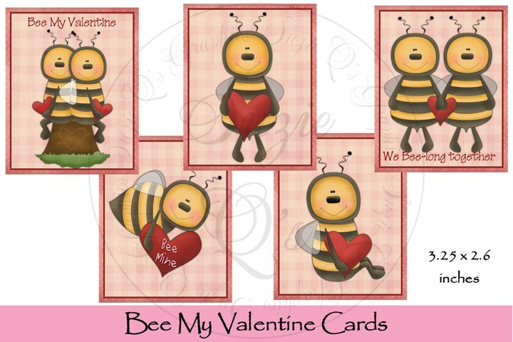 Bee My Valentine Card Set
