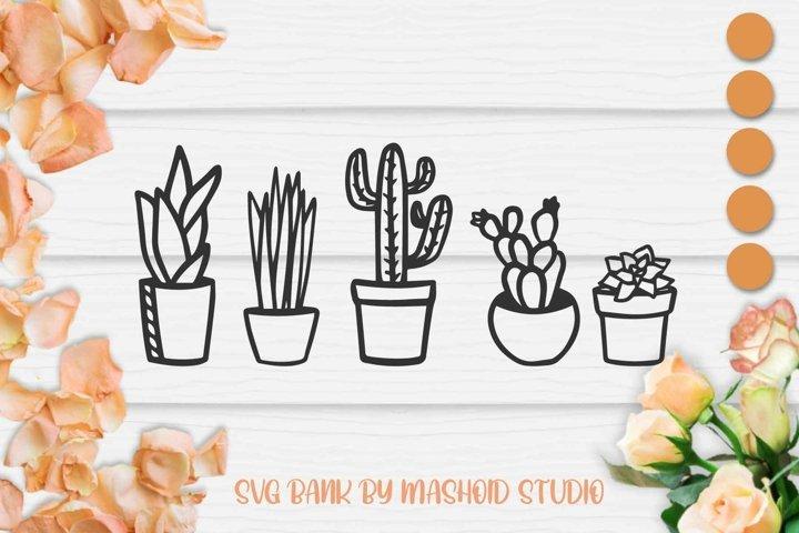 Cactus SVG, Cactus Cut File, Succulent SVG, Cacti SVG