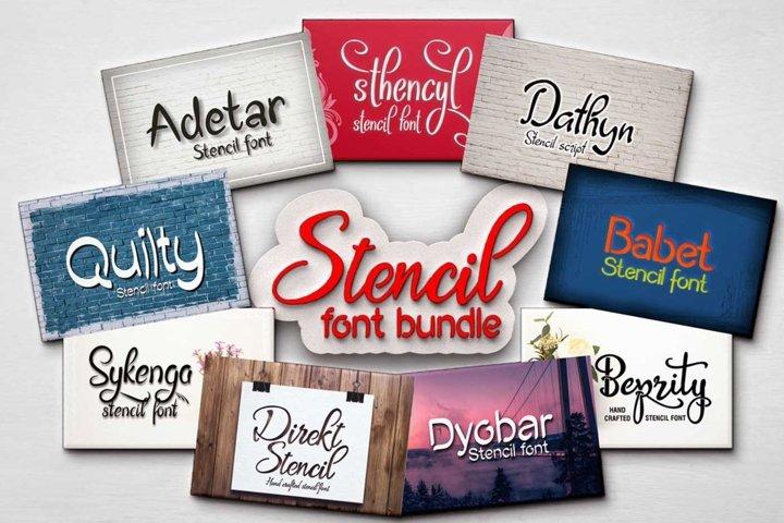 Stencil font bundle