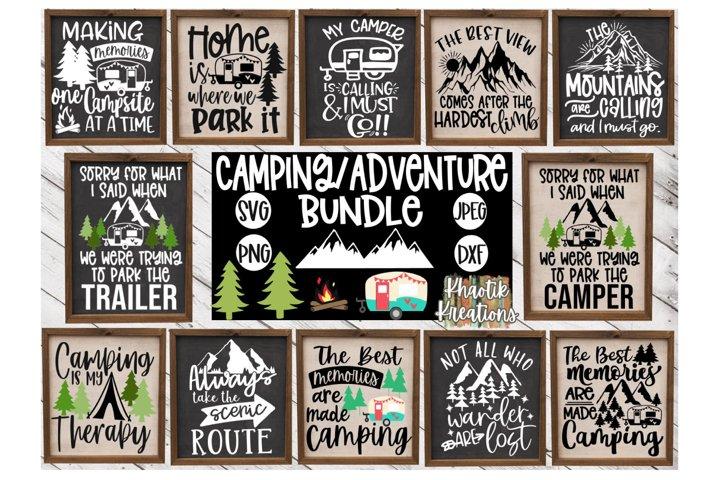Camping Svg Bundle, Adventure Svg, Travel Svg, Vacation Svg