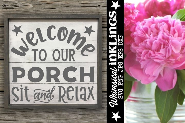 Porch Welcome SVG