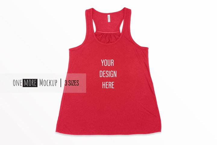 Women Tank Top Mockup | Bella Canvas 8800 Red