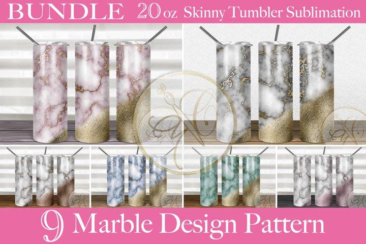 BUNDLE Marble 2oz Skinny Tumbler Sublimation