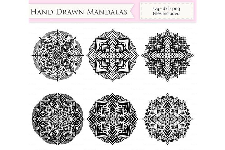 Hand Drawn Mandalas SVG Files - Mandala cut files