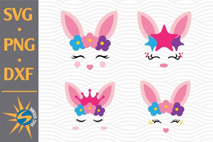 Easter Bunny SVG, PNG, DXF Digital Files Include