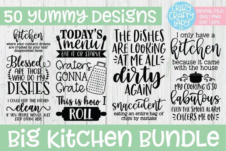 Big Kitchen SVG DXF EPS PNG Cut File Bundle
