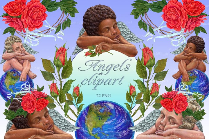 Angels clipart, Little Angels, Baby Angel, Valentines Day