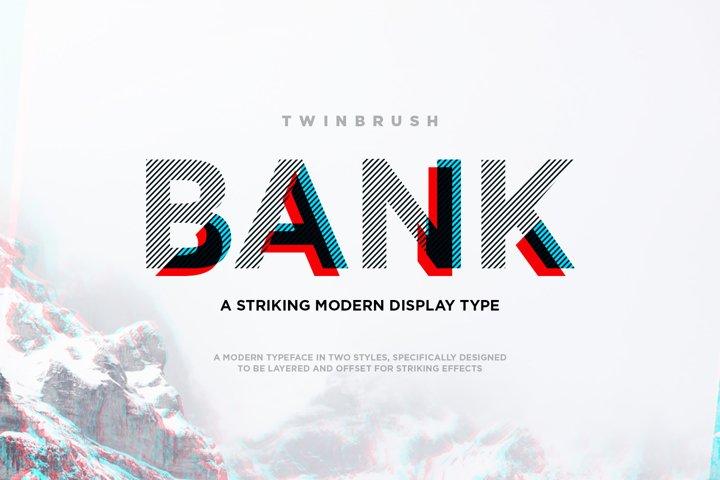 Bank Display Font