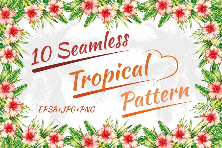 Tropical pattern. Seamless design.