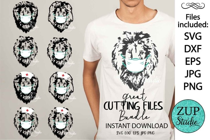 Lion with Mask Digital Cutting files 522