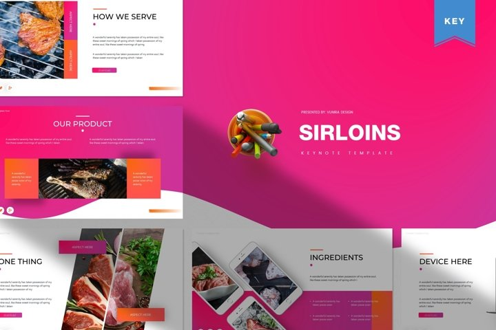 Sirloins | Powerpoint, Keynote, GoogleSlides Template