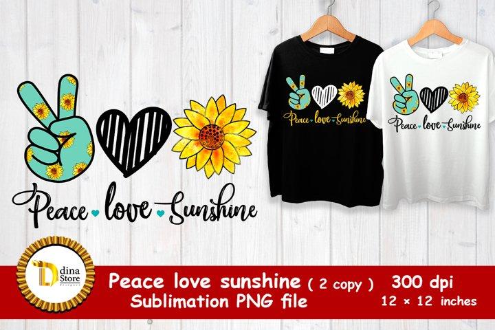 sublimation design - peace love sunshine 2 copy png