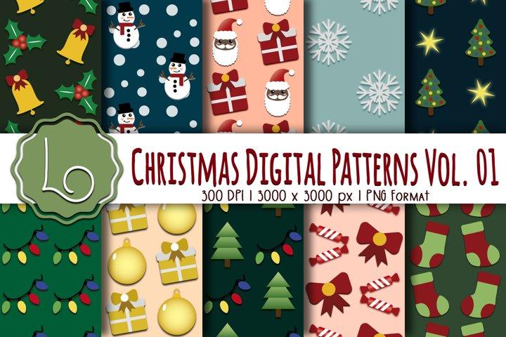Christmas Digital Patterns Vol. 01
