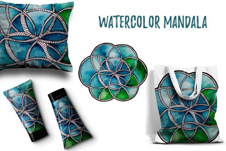 Watercolor mandala vol.1