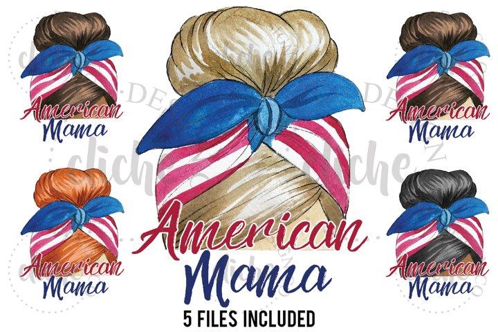 Patriotic Mama Sublimation Design Bundle