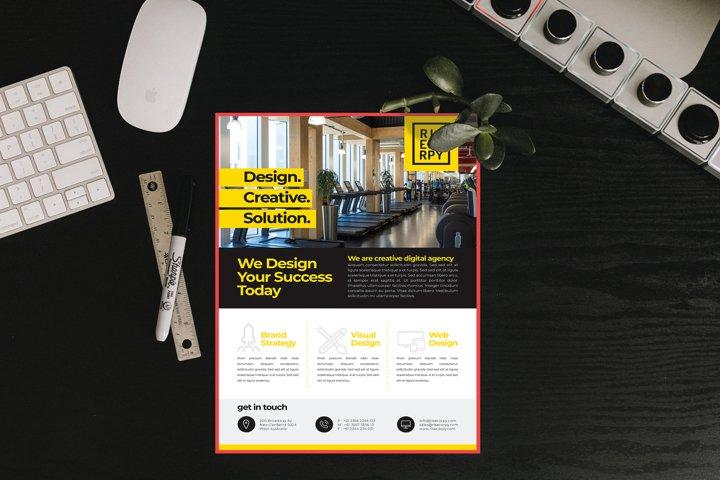 Corporate Flyer - Mockup Letter Size