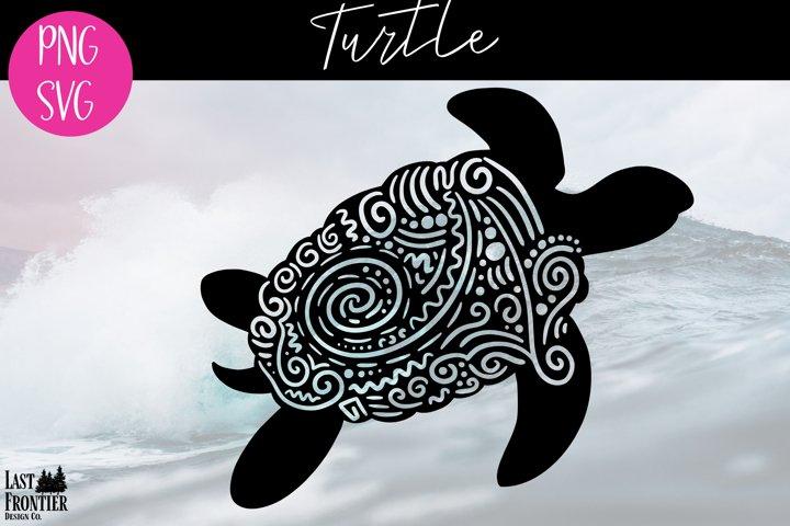 Turtle Zentangle