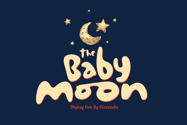 THE BABY MOON - Display Font