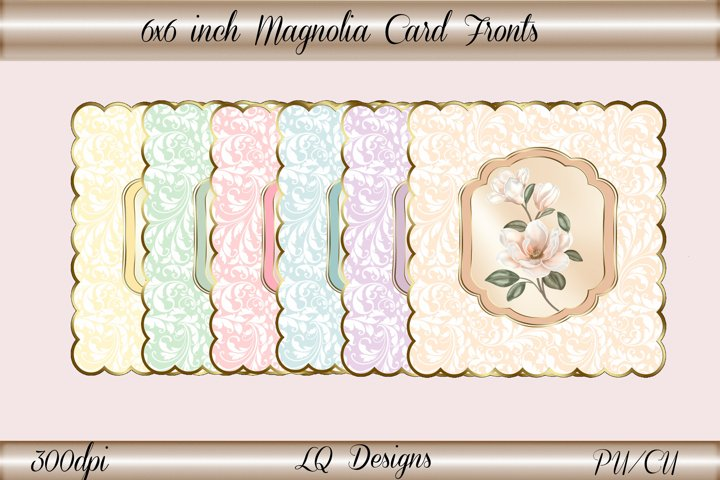 6x6 inch Magnolia Card Fronts