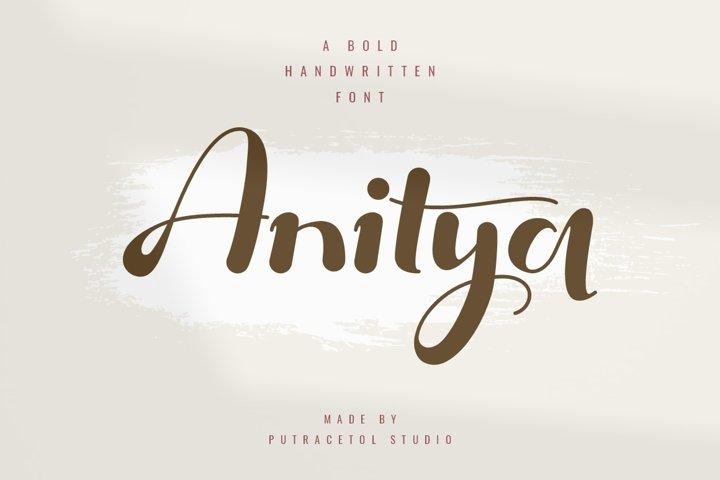 Anitya - Bold Handwritten