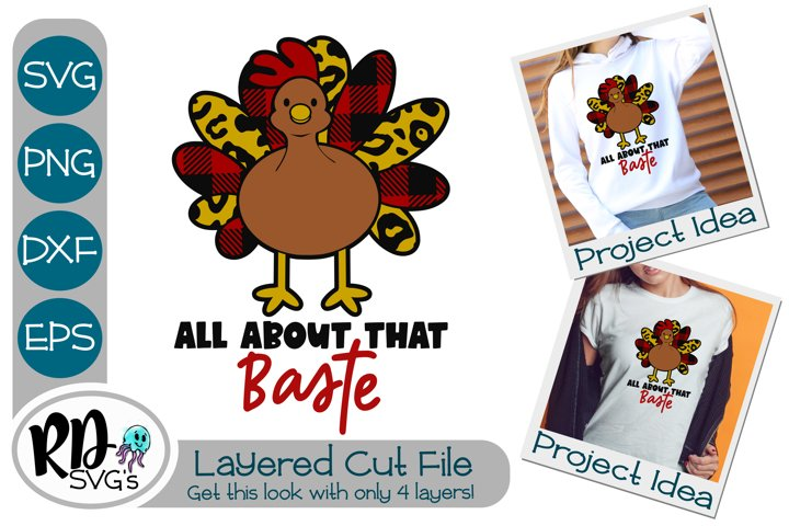 All About That Baste Turkey - A Thanksgiving Cricut Cut File