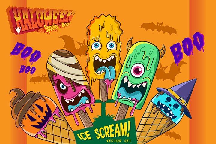 Halloween Characters Vector Set