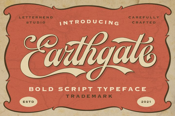 Earthgate - Bold Script Typeface