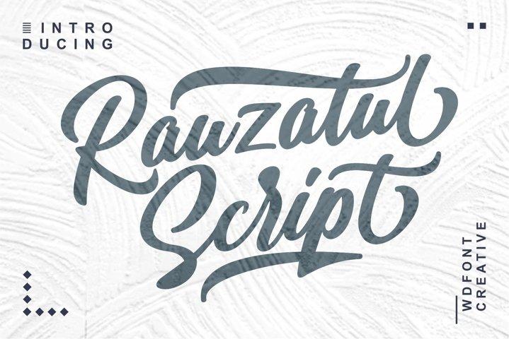 Rauzatul Script | Modern Stylish Font