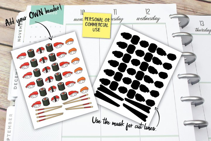 Sushi Planner Stickers