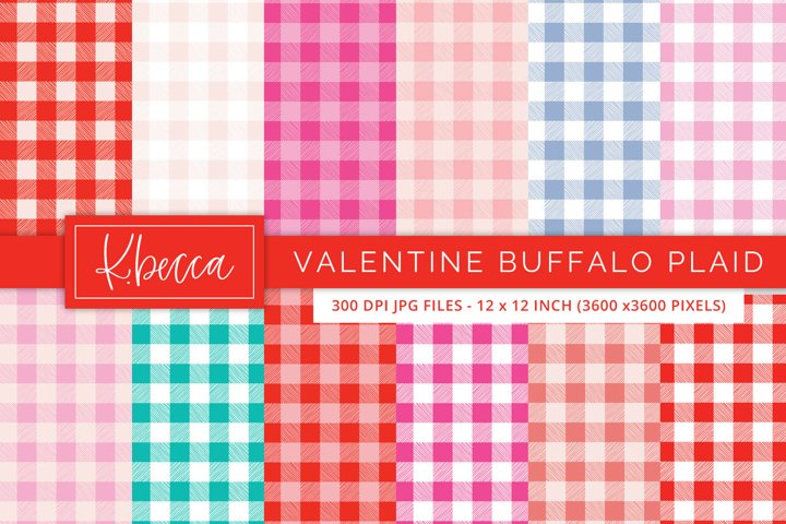 Valentines Day Buffalo Plaid Backgrounds Seamless