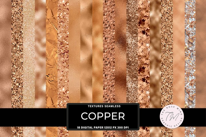 Copper Seamless textures foil