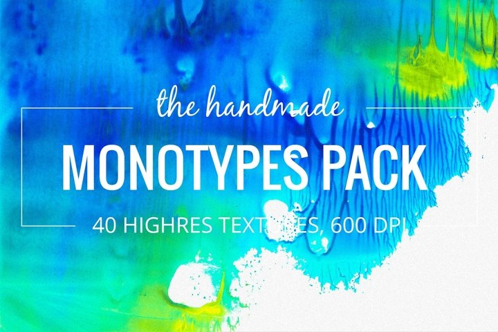 40 Watercolor Monotypes pack