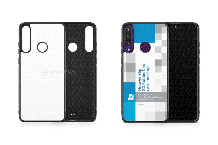 Huawei Y6p 2020 2d Rubber Flex Case Design Mockup