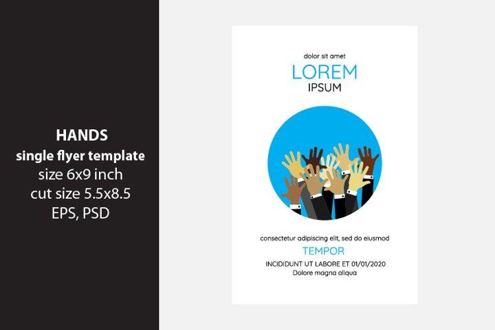Hands - flyer template
