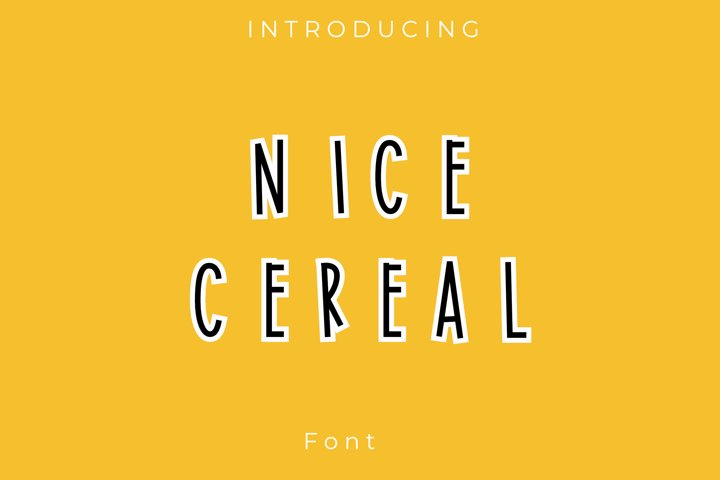 Nice Cereal font