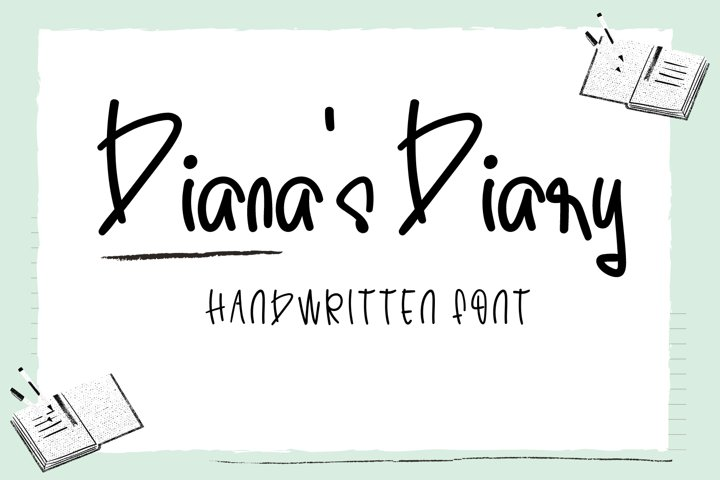 Dianas Diary-Cute Handwritten Font