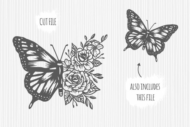 Floral Butterfly cricut svg
