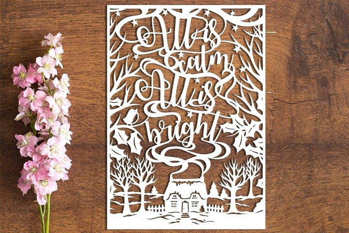 All Is Calm - PDF Template for Paper Cutting by hand